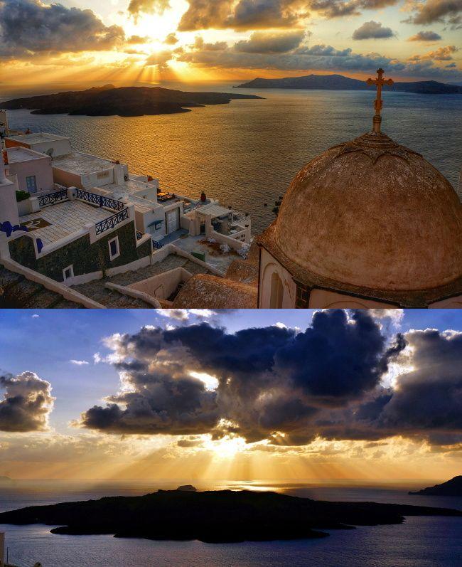 sunset Santorin