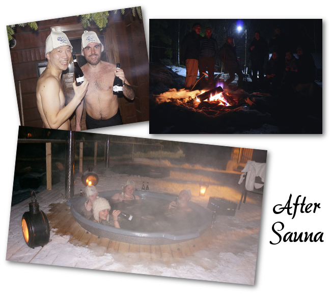 après le sauna