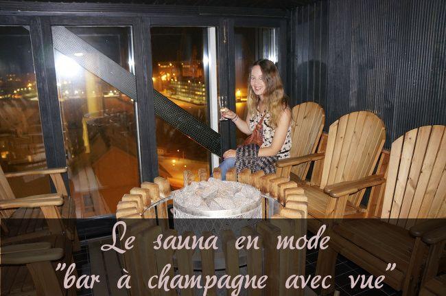 champagne et sauna