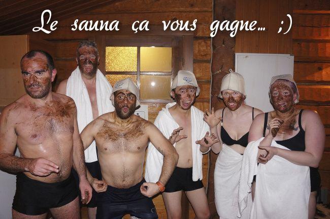entre amis au sauna