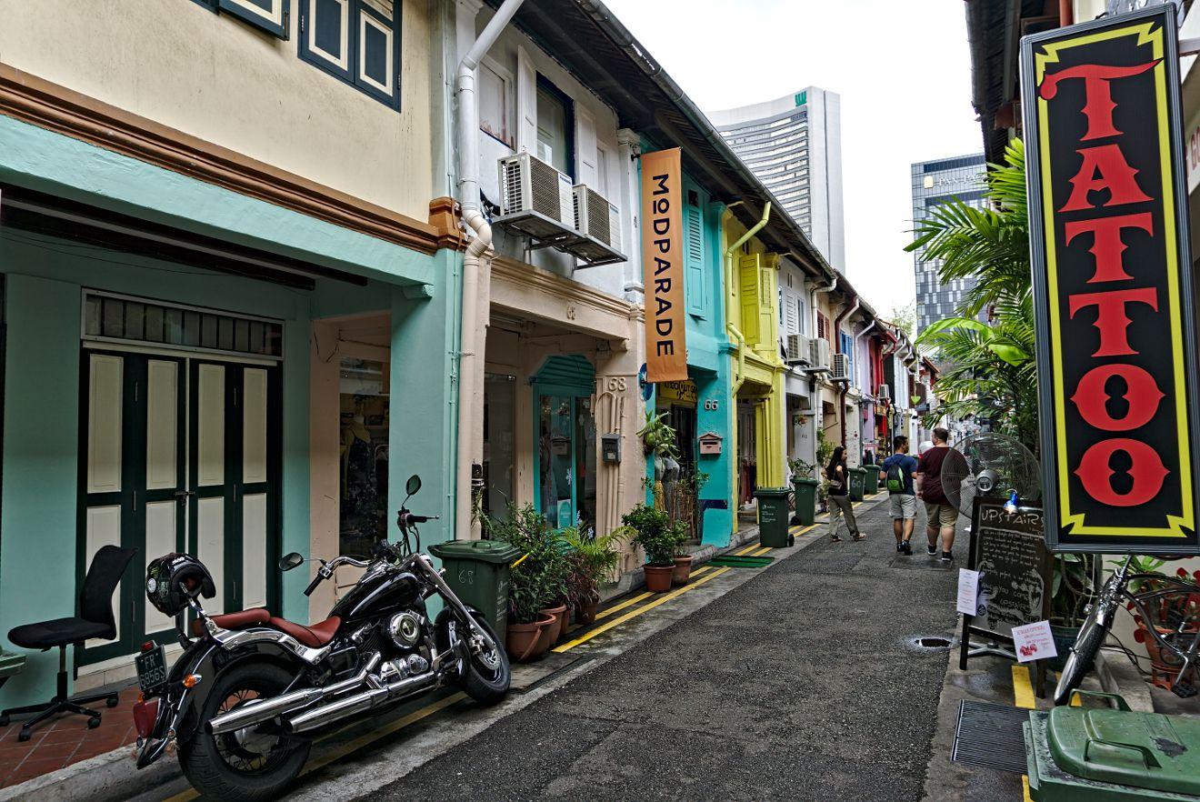 haji lane, quartier singapour