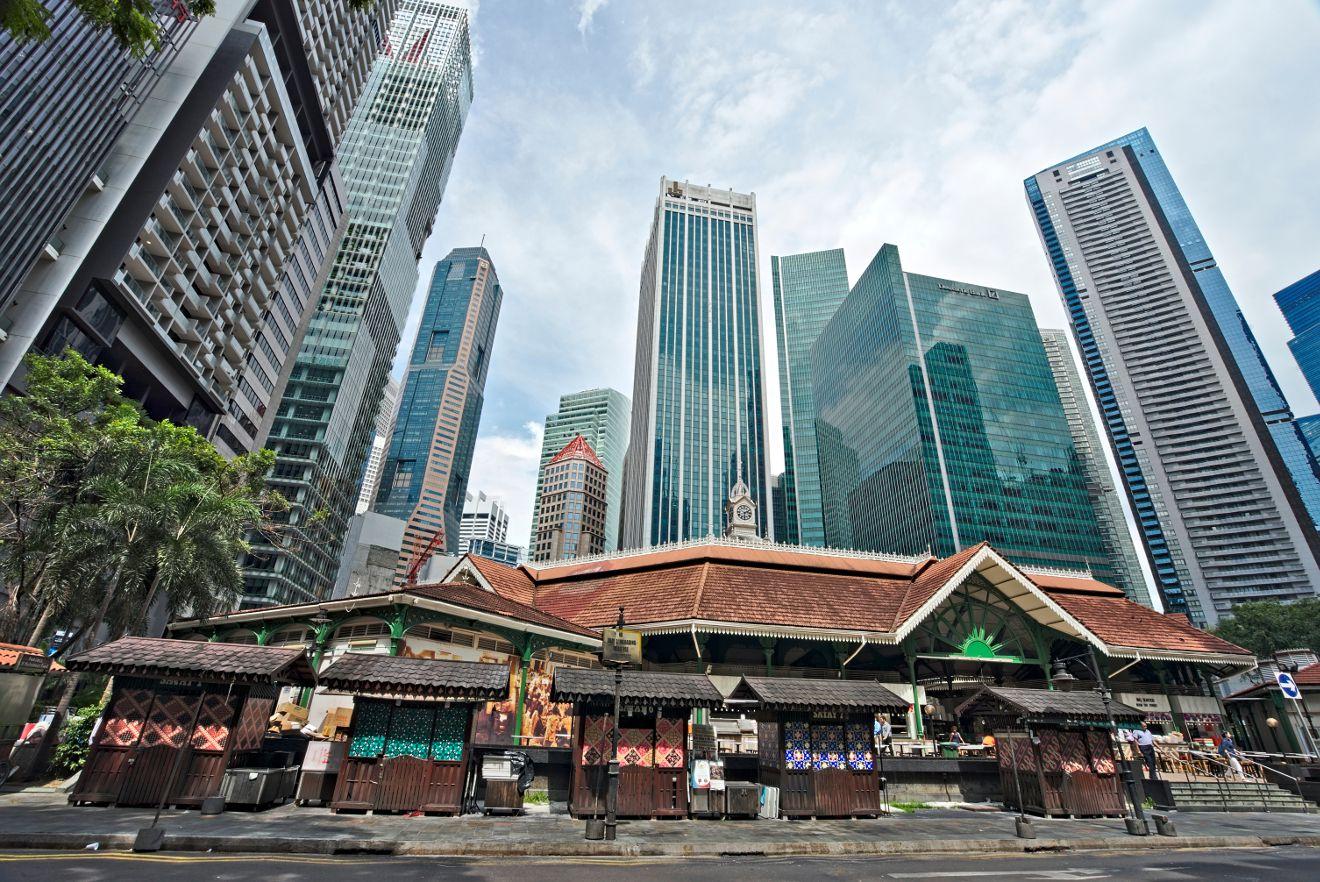 singapour: quand l'ancien et le moderne se croisent