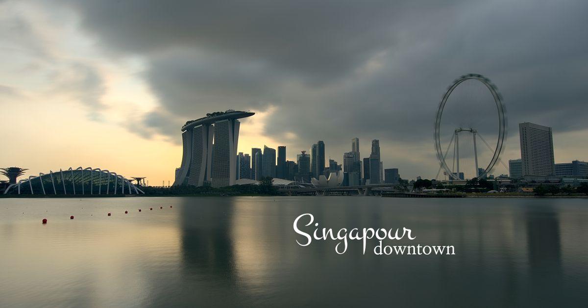 la baie de Singapour