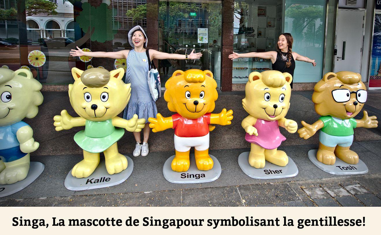 la mascotte de singapour
