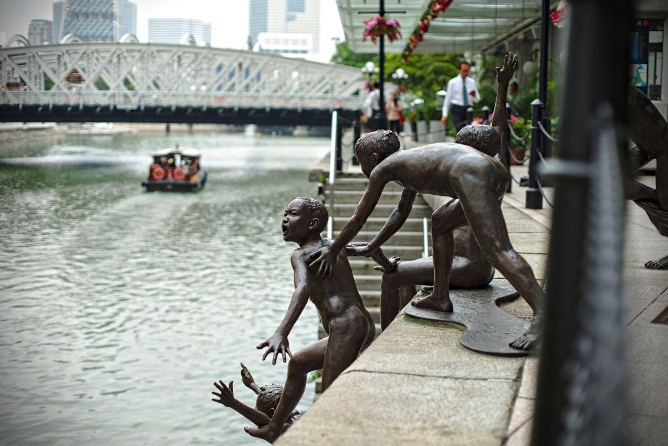 Statue bronze singapour