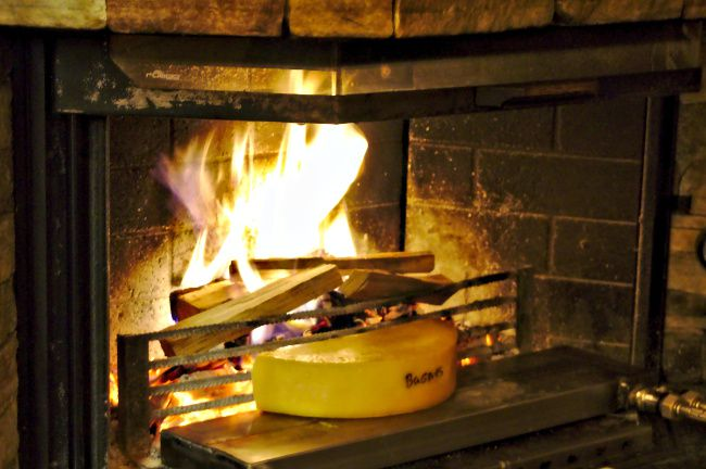 raclette feu de bois