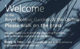 jardin botanique, sydney