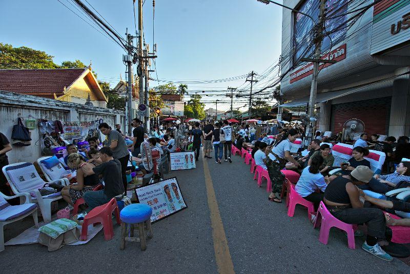 massage en pleine rue