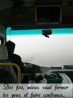 Au passage d'un col de montagne en Chine