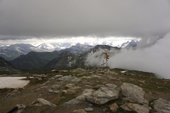 La vue sur les alpes suisses