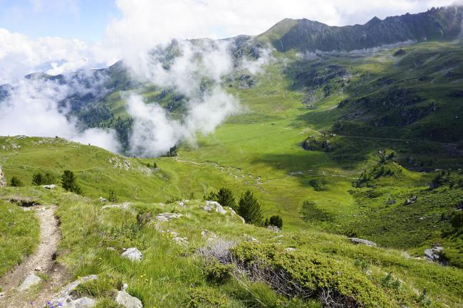 vue dans les alpes suisses