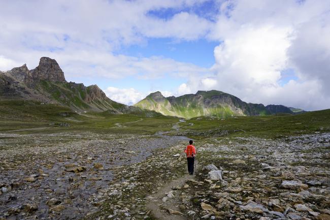 paysages lunaire dans les alpes suisses