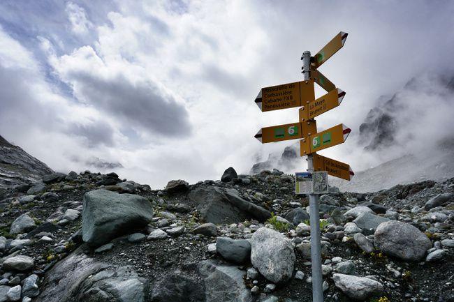 Swiss hiking sign