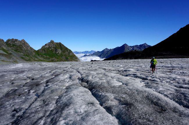 sur le glacier de corbassiere