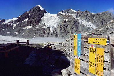 sentier sur le glacier