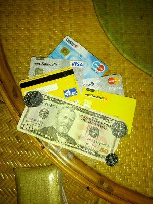 Cartes bancaires pour un voyage