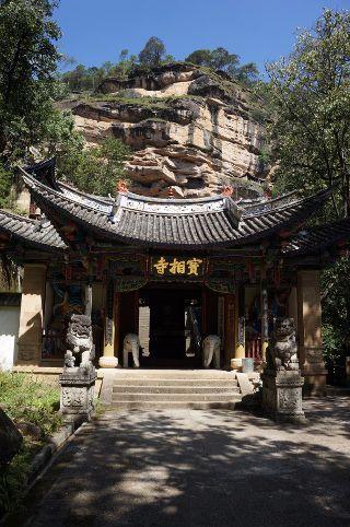 temples dans la roche