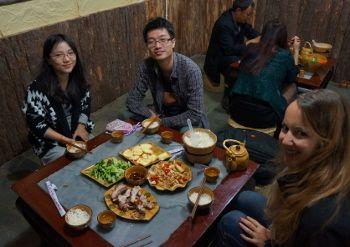 repas entre amis en Chine
