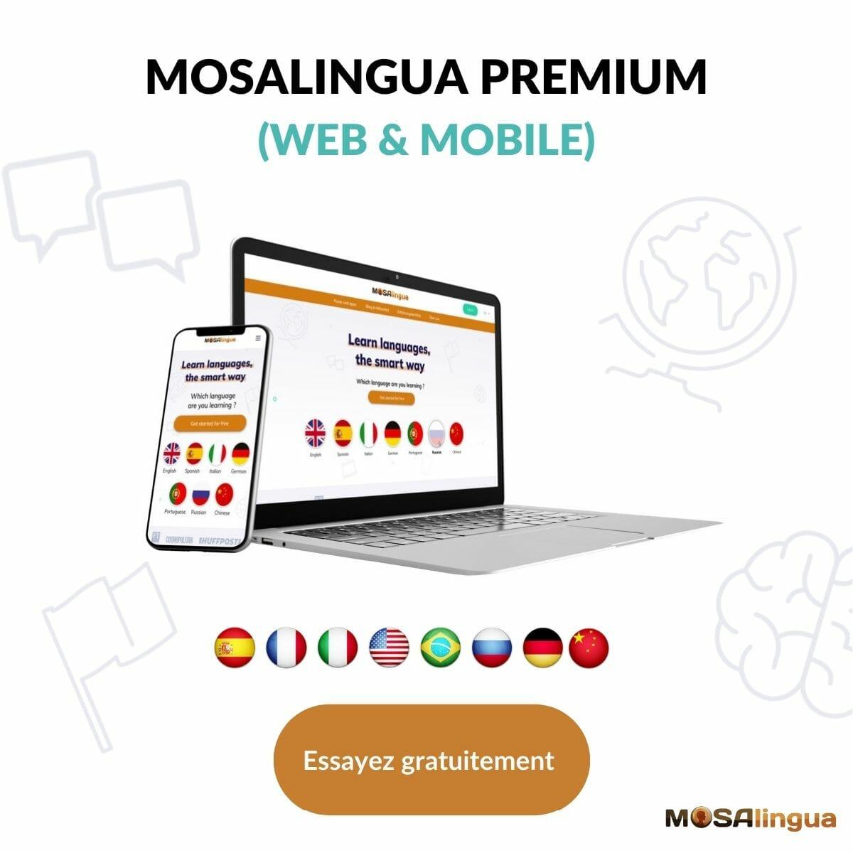 Apprendre des langues avec Mosalingua