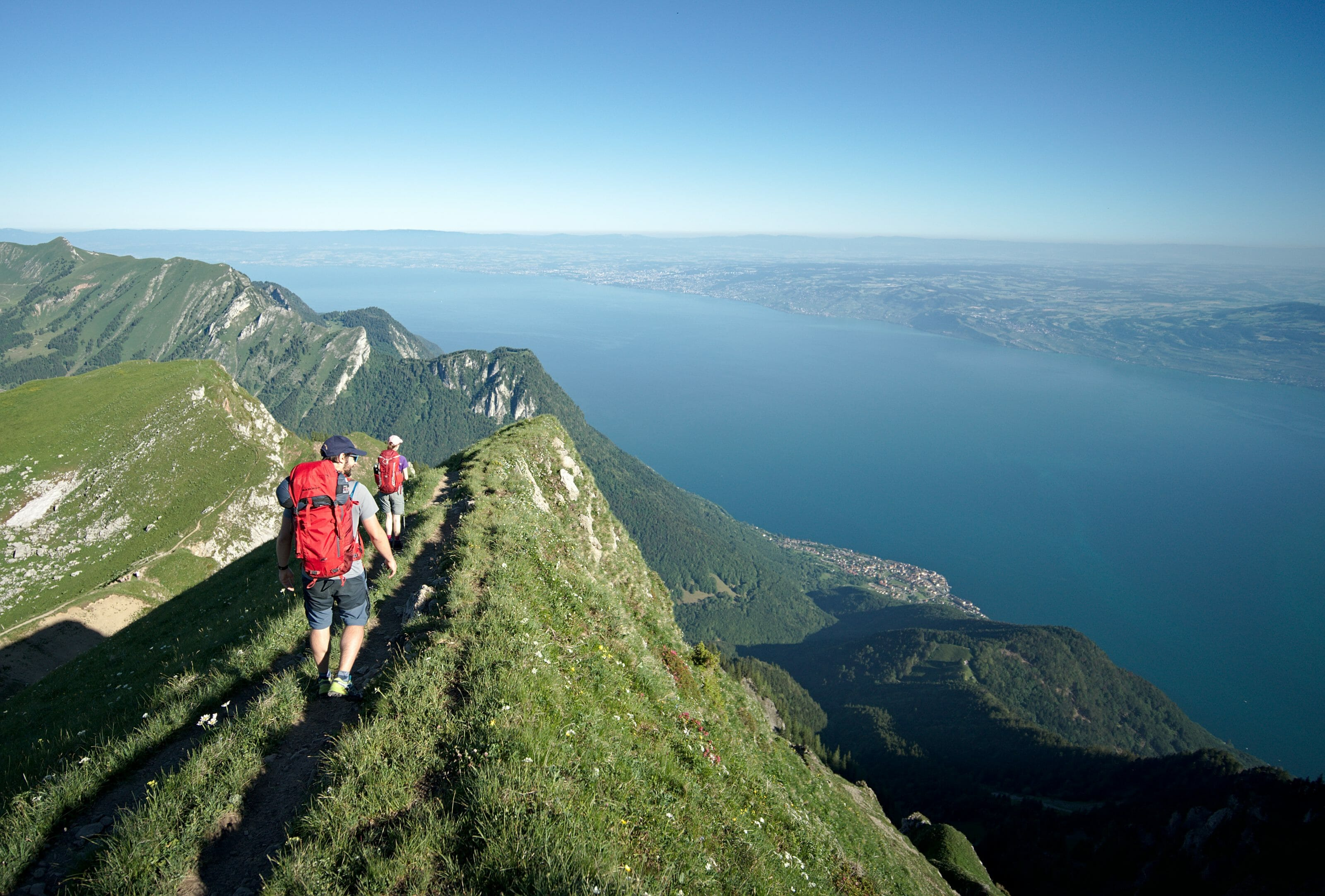 View above lake Geneva from the Grammont