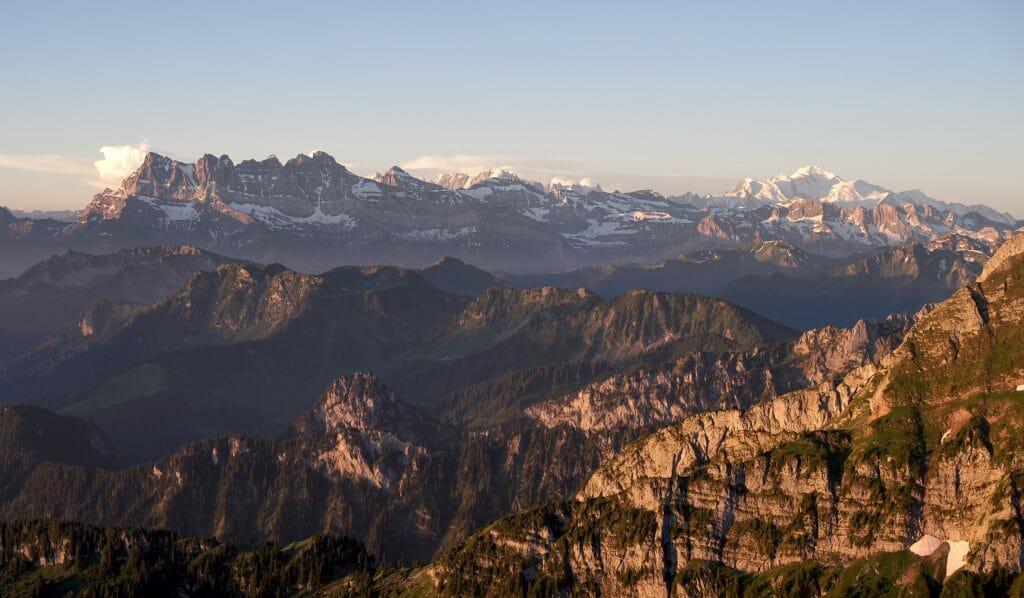 vue au sommet du Grammont