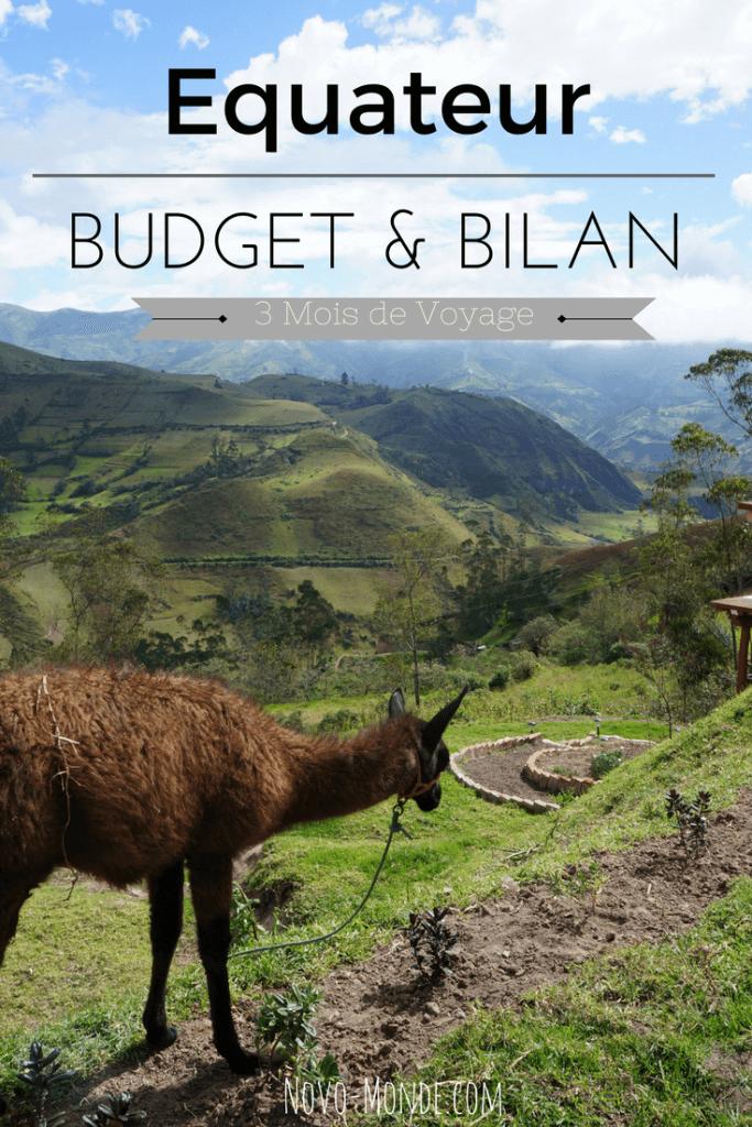 itinéraire et budget en équateur