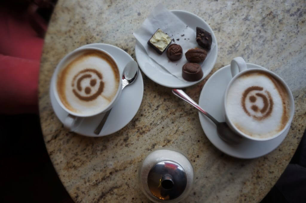 chocolate and coffee in trakai