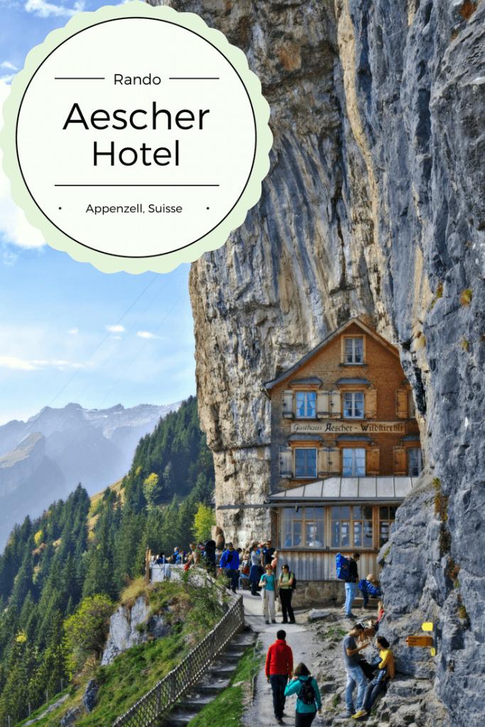 hotel aescher dans la roche, suisse