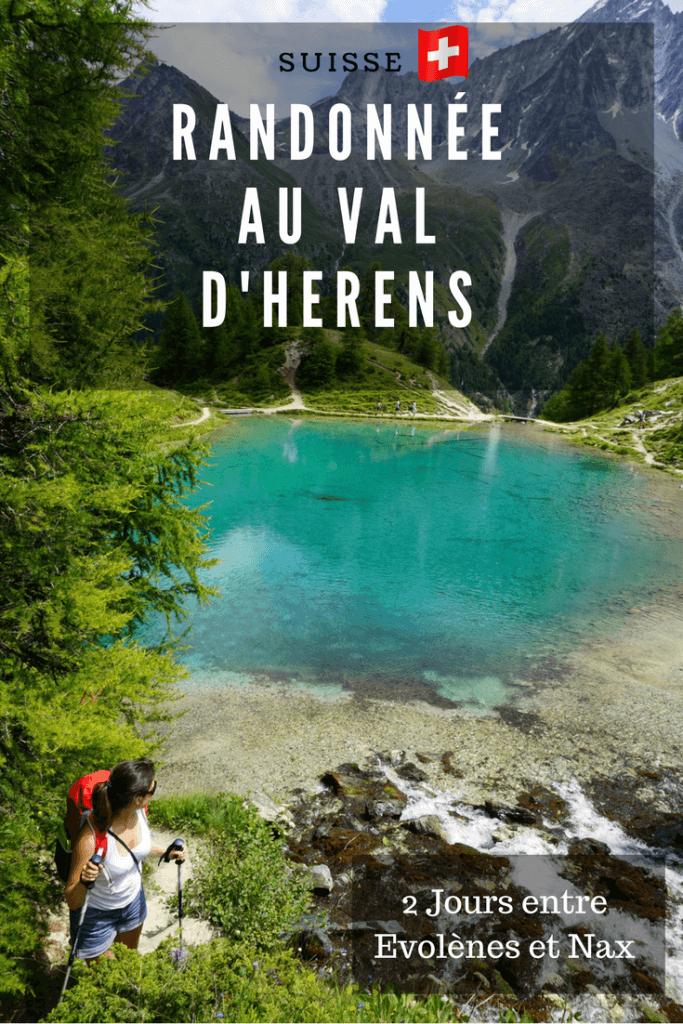 randonnée en Suisse: le val d'hérens