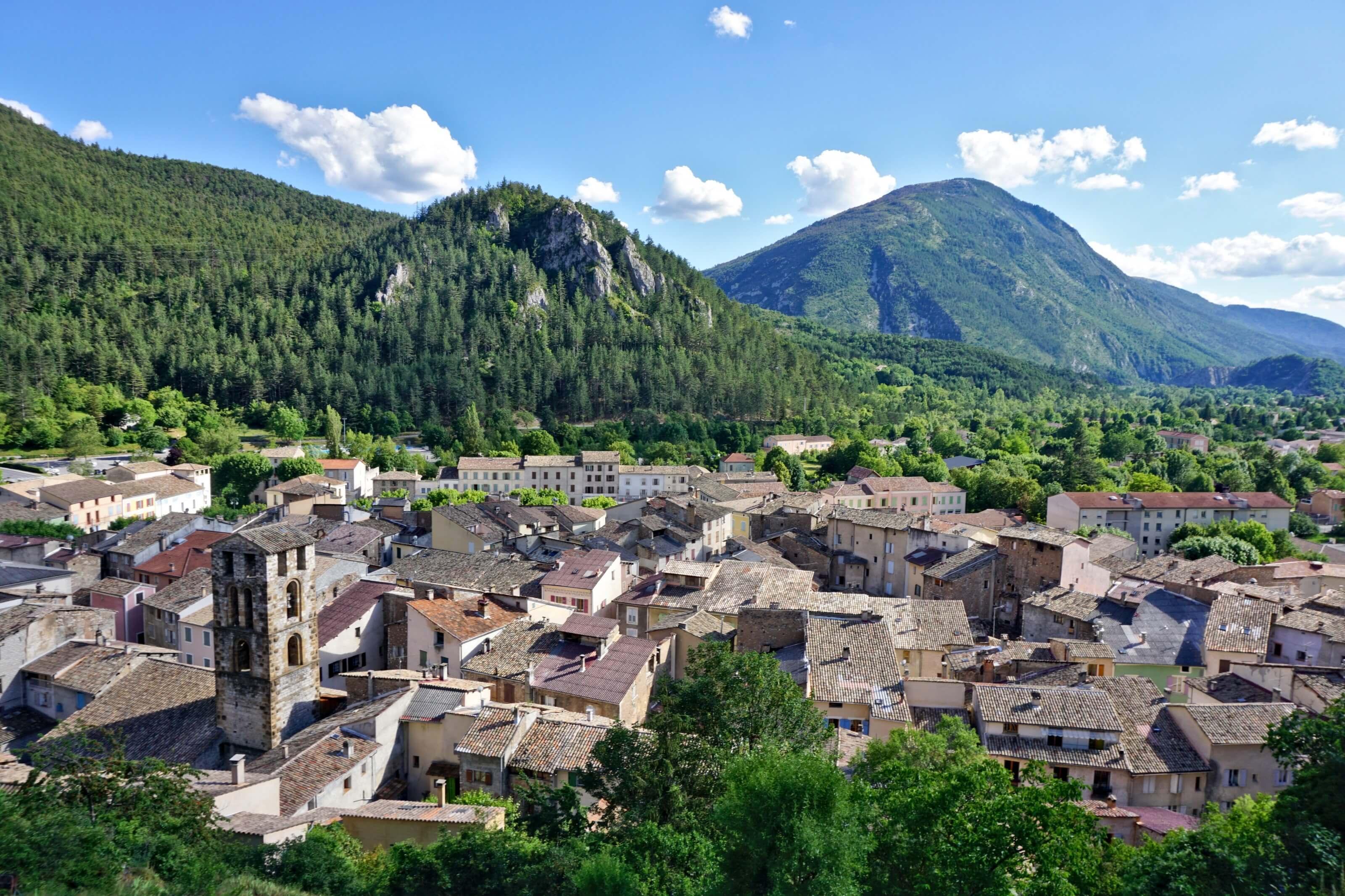 Castellane, sud de la France