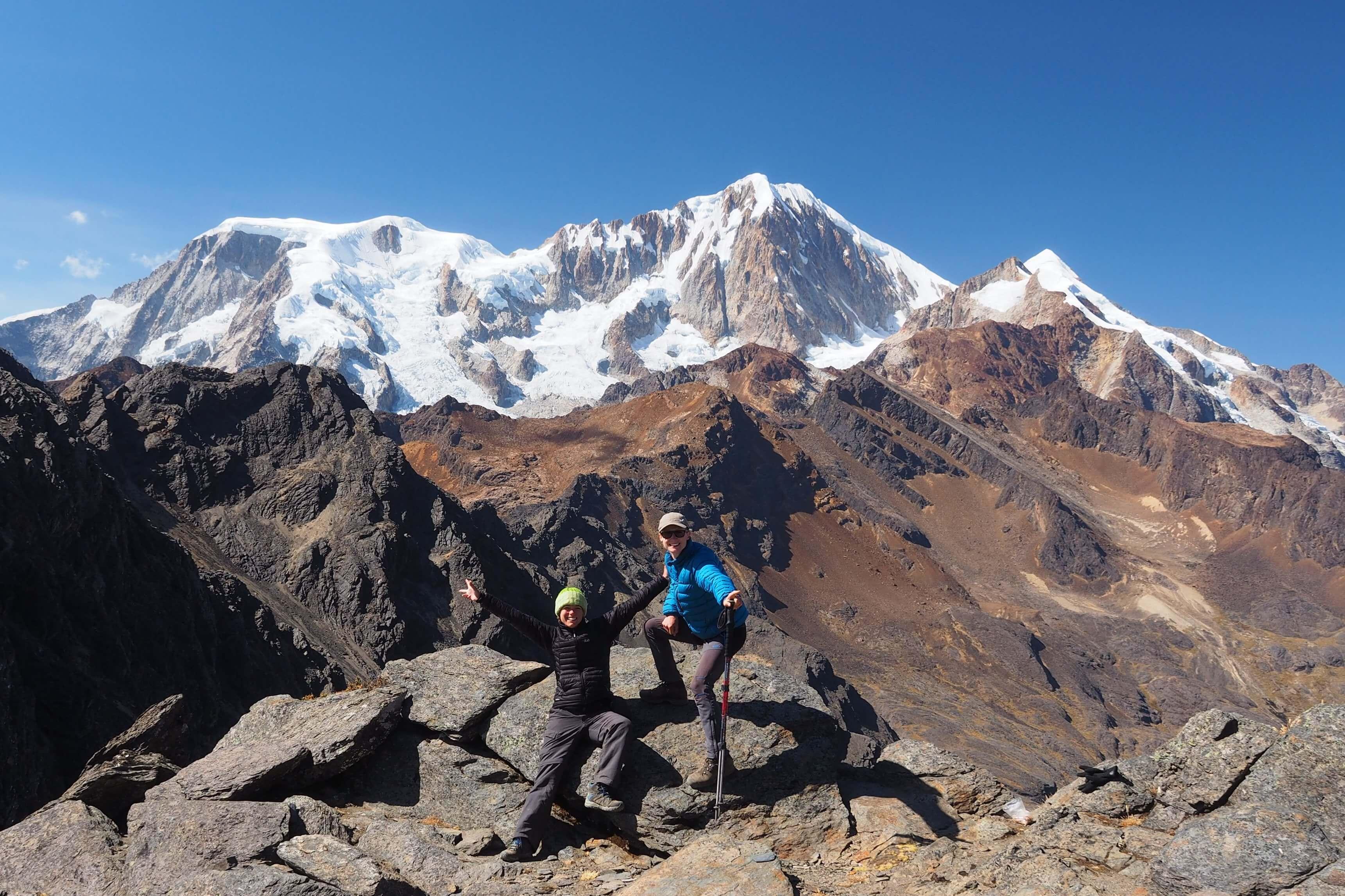 tour de l'illampu en Bolivie