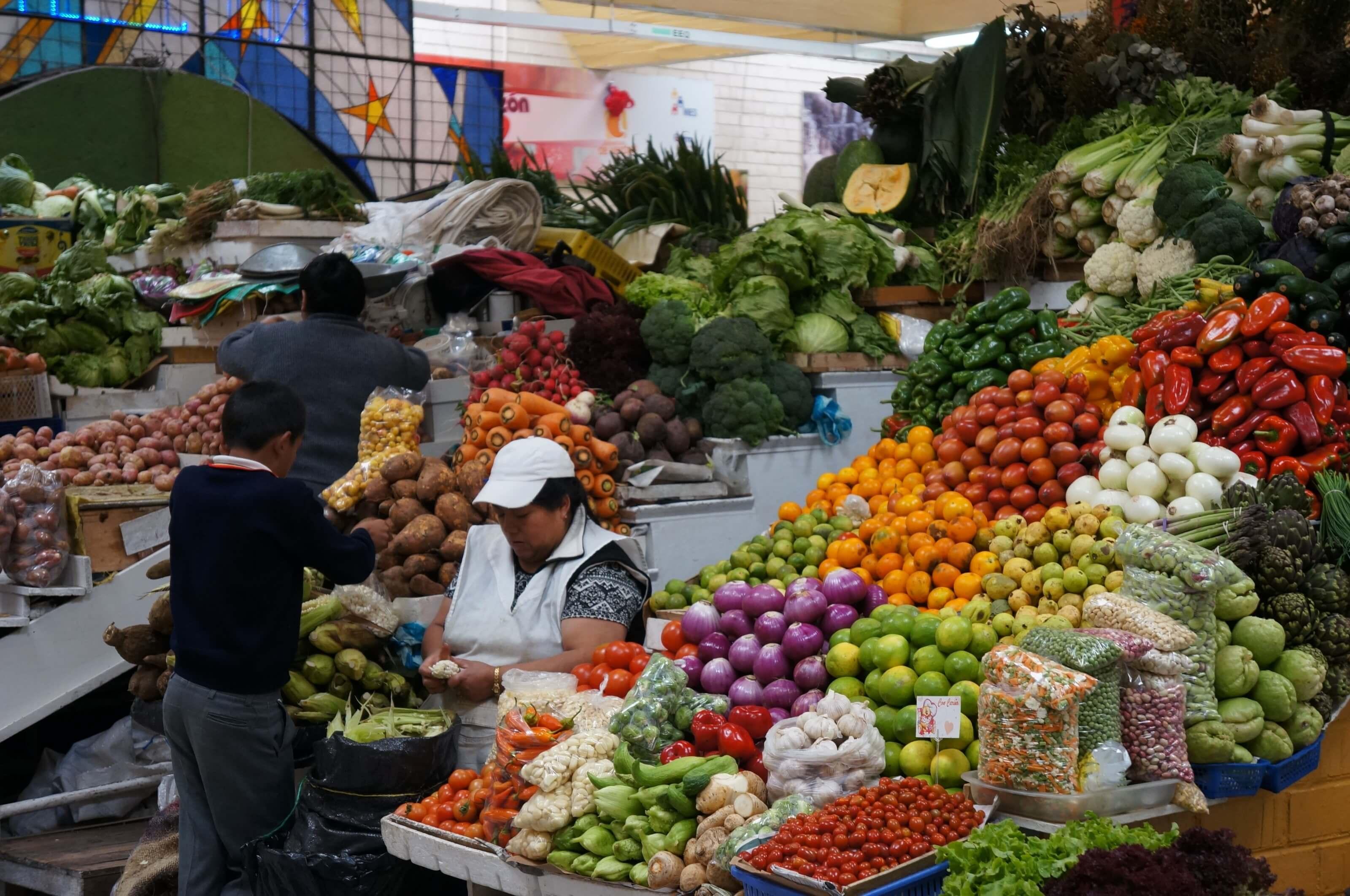 marché en équateur