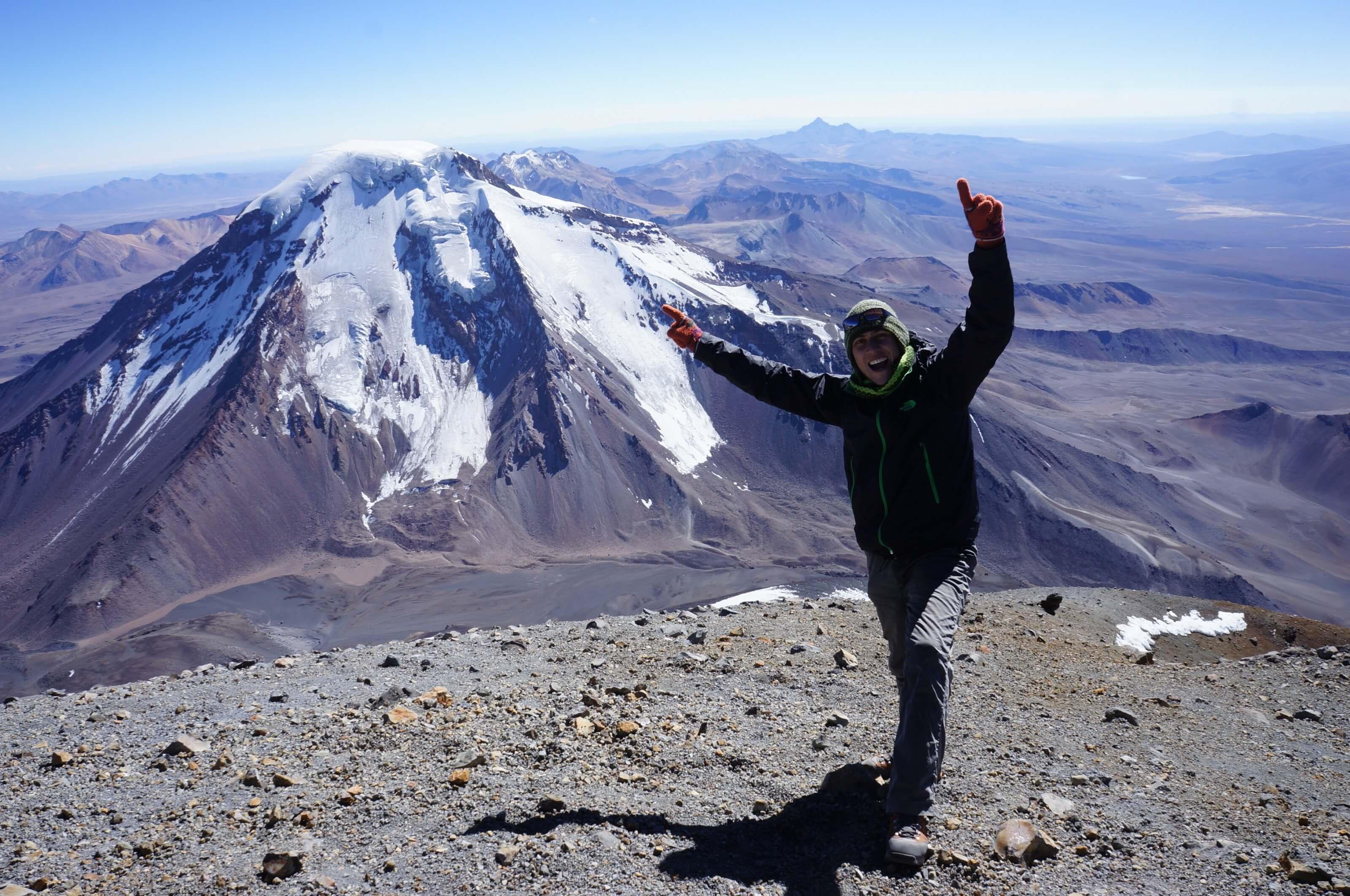 climbing mountains in Bolivia