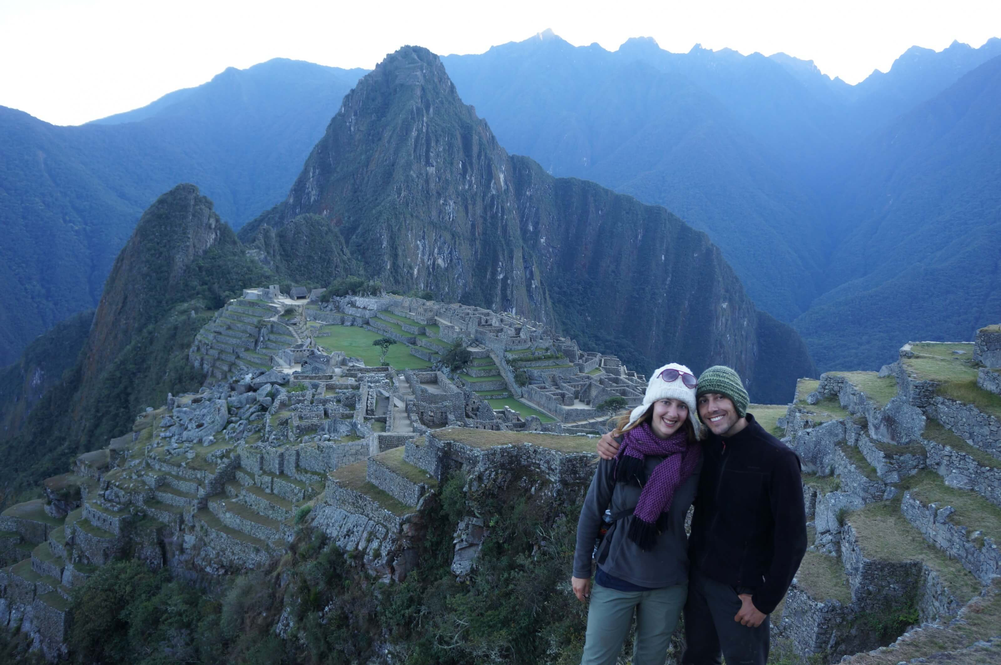 hiking to machu pichu