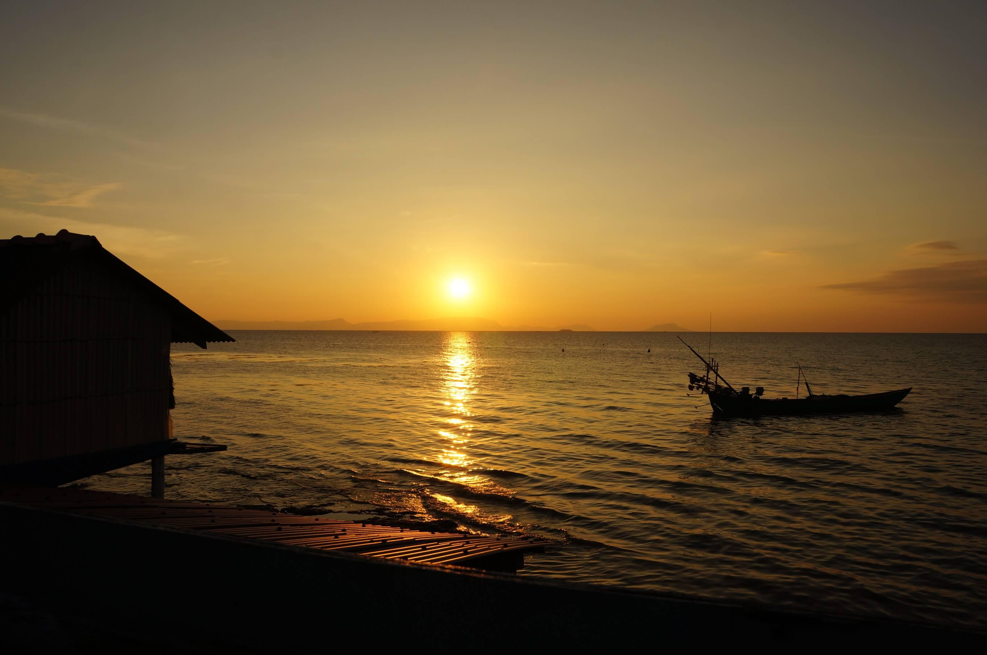 coucher de soleil cambodge