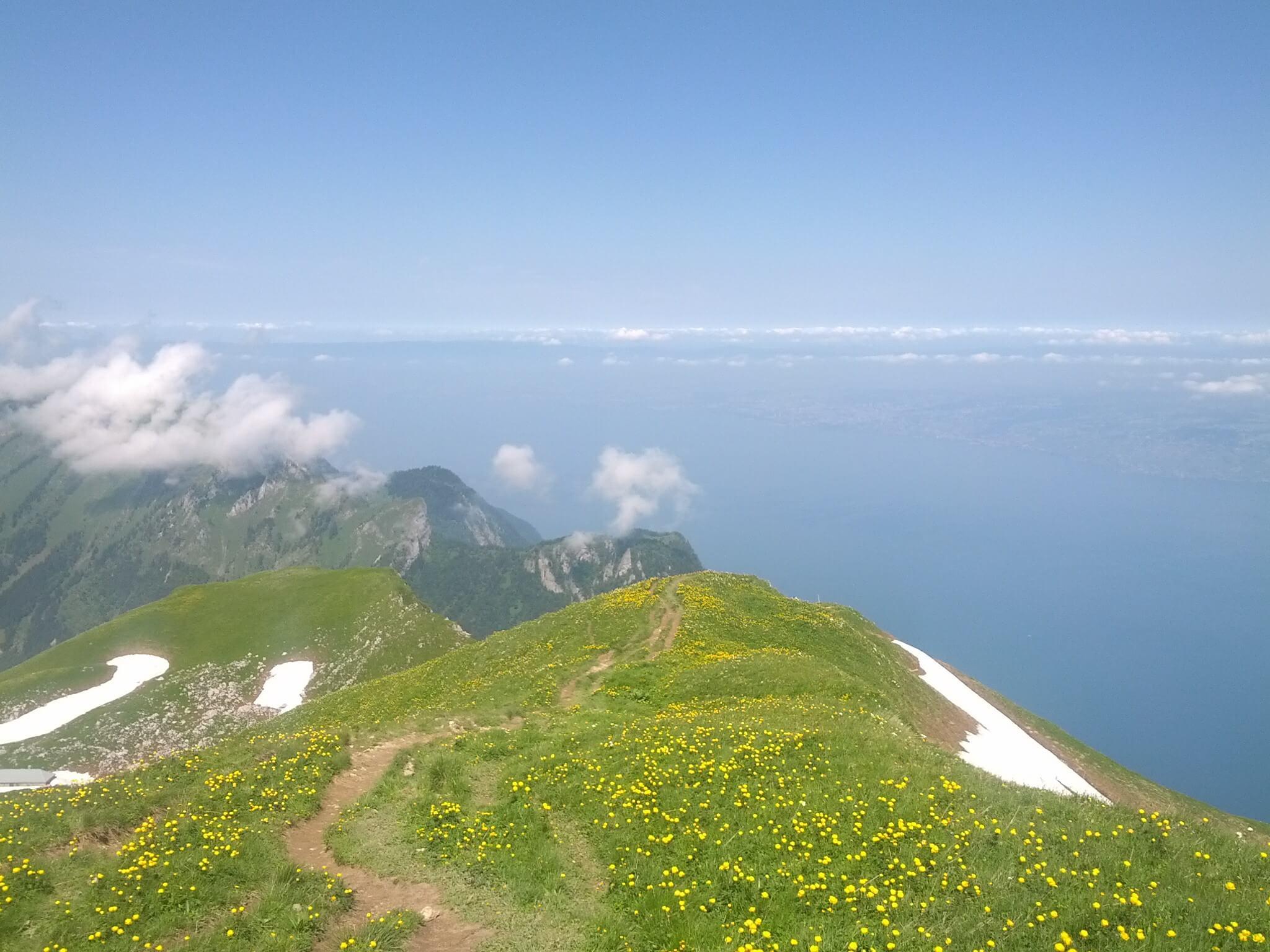 Vue depuis le Grammont, Valais Suisse