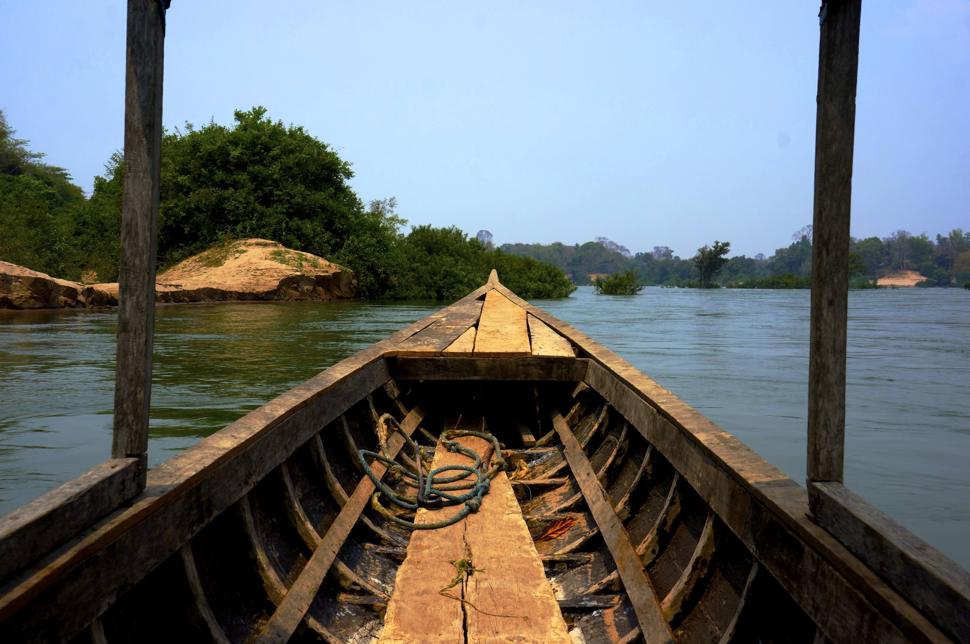 bateau au Laos