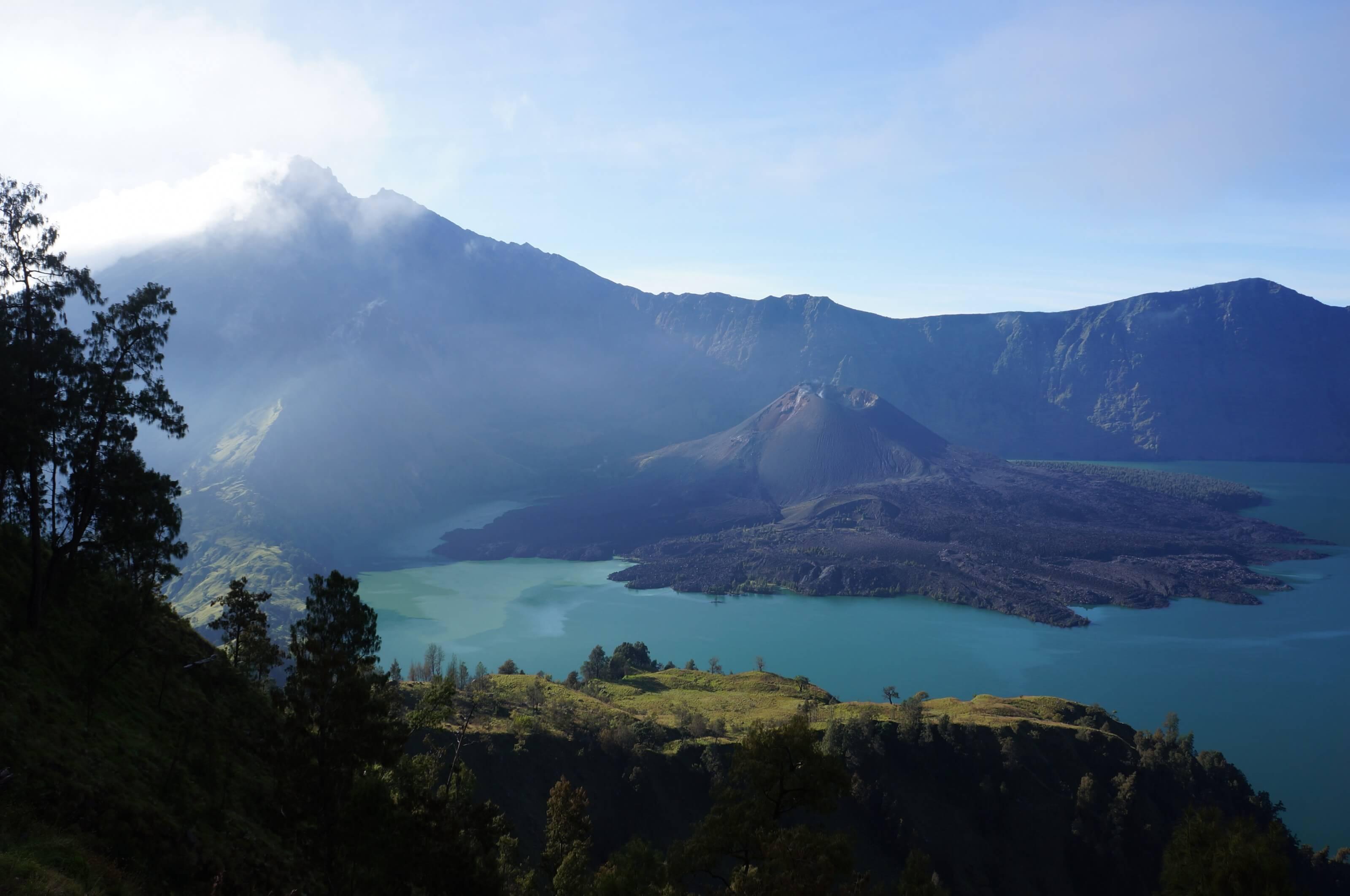 cratère du volcan Rinjani sur Lombok