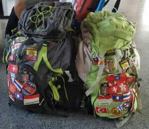 backpacks for a round the world trip