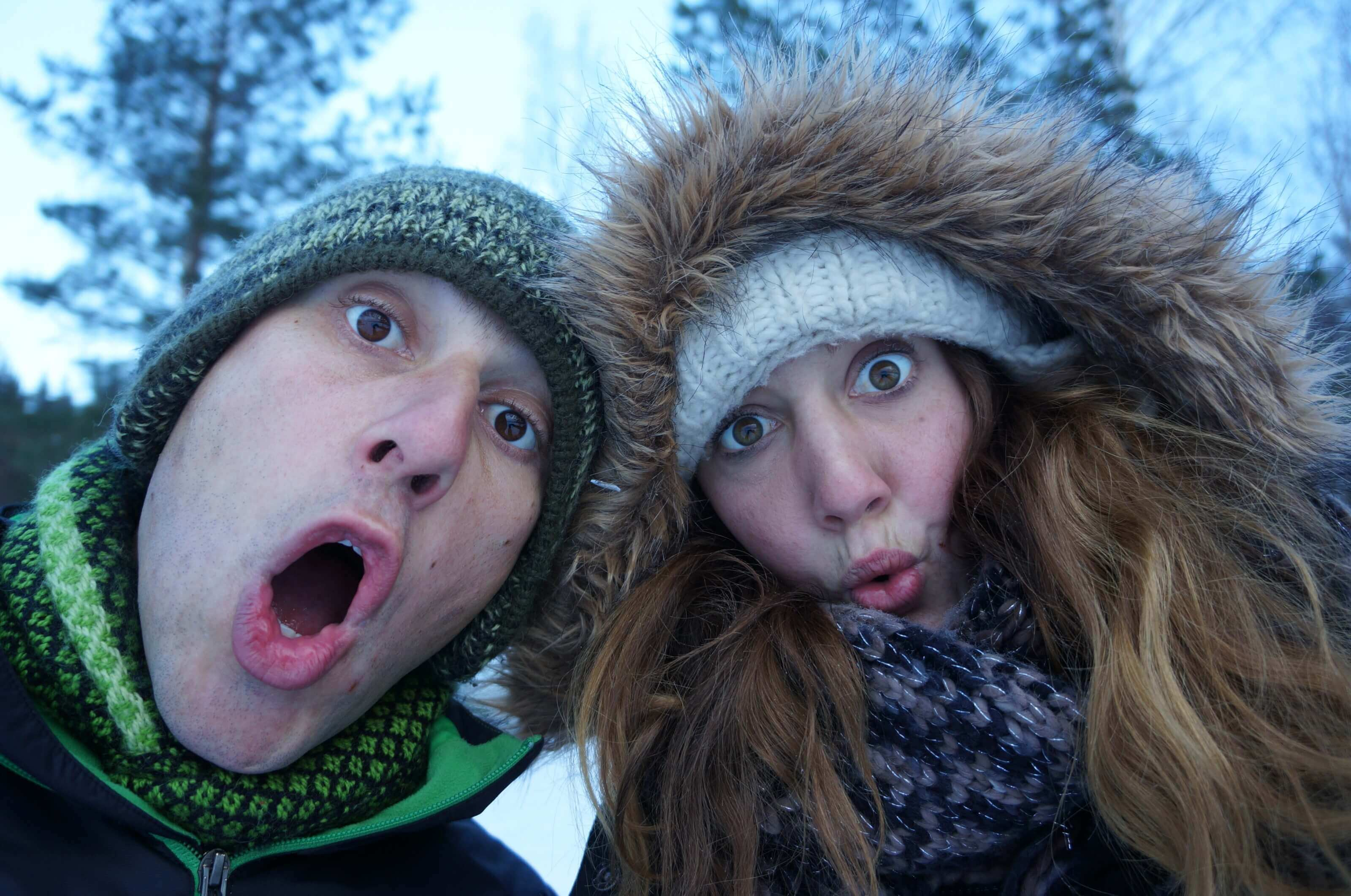 Fabienne and Benoit in Finland