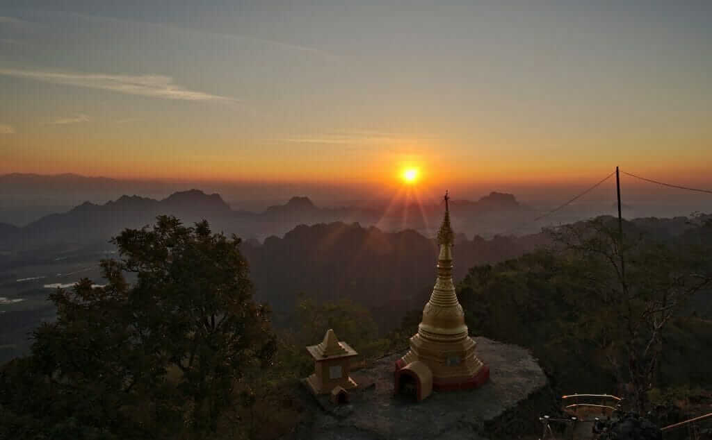 Mont Zwekabin birmanie