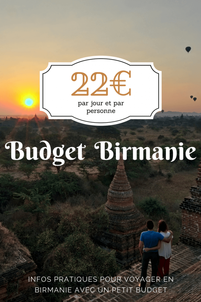 budget voyage en birmanie