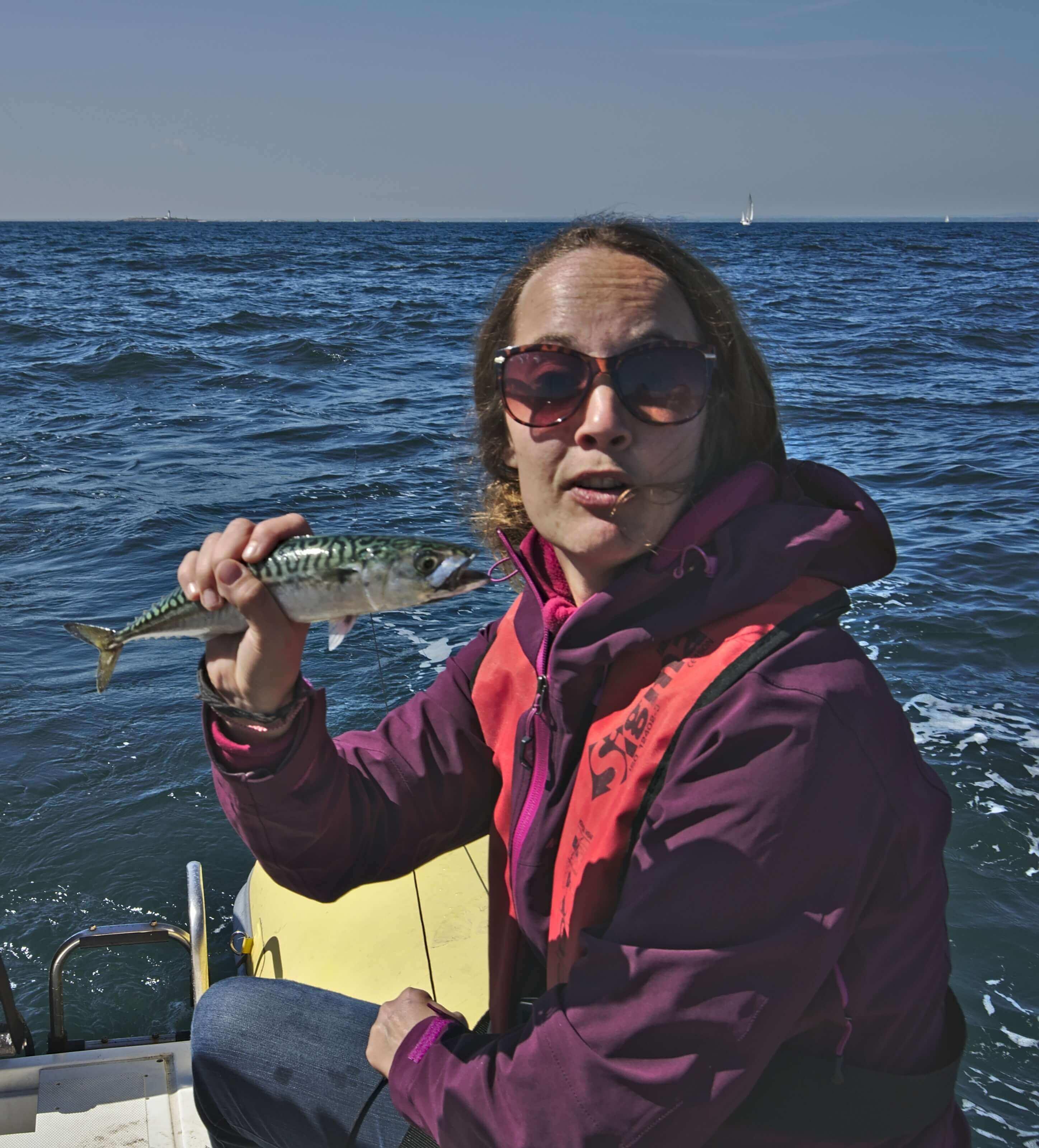 Fabienne pêche
