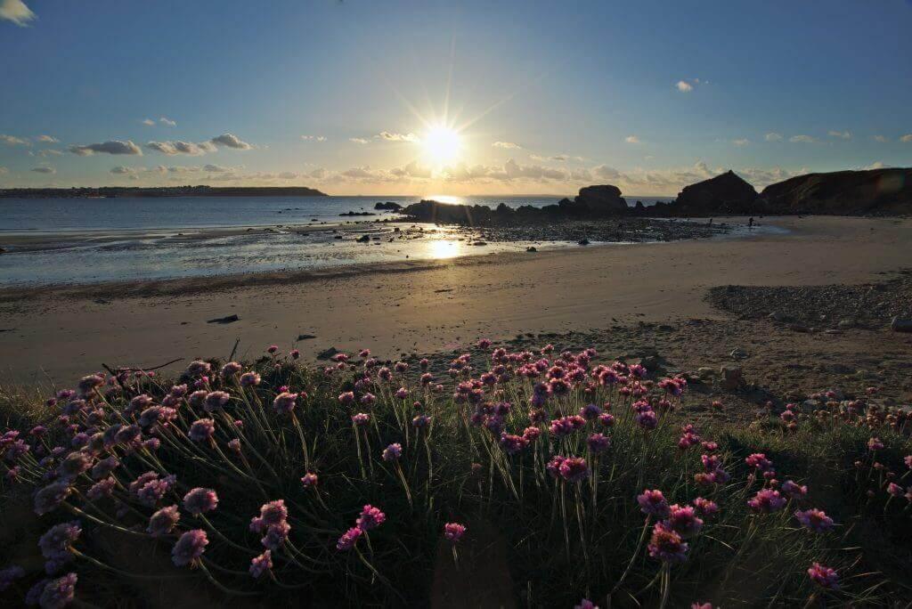 coucher de soleil plage de Trez Rouz