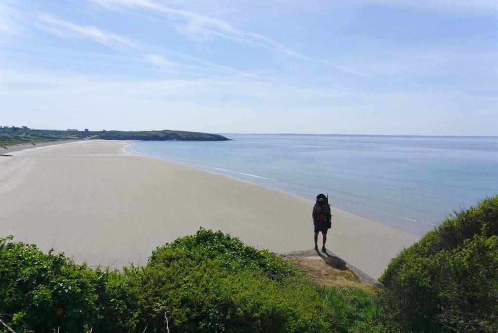 plage de trez-bellec à marrée basse