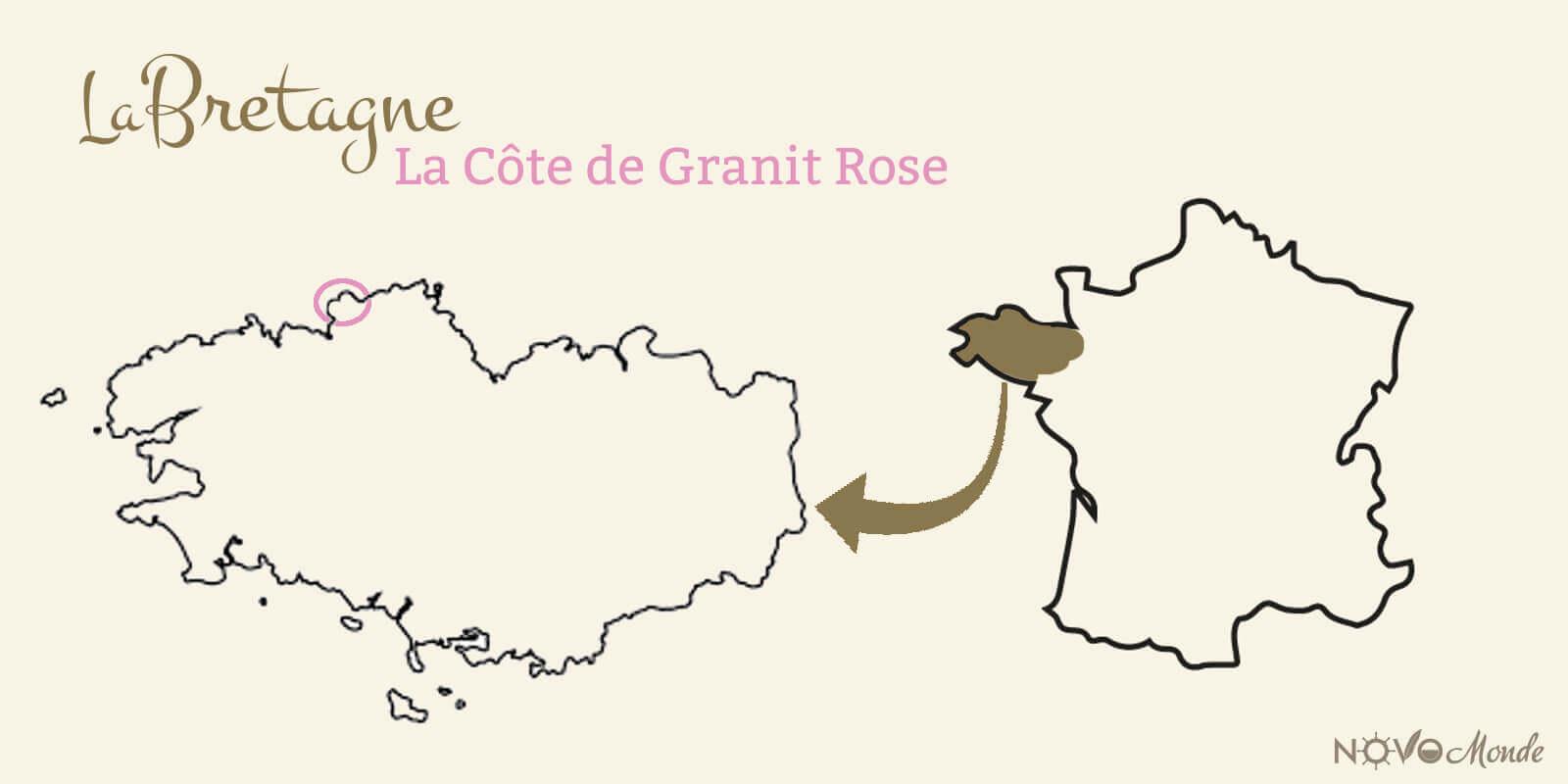 carte de la côte de granit rose