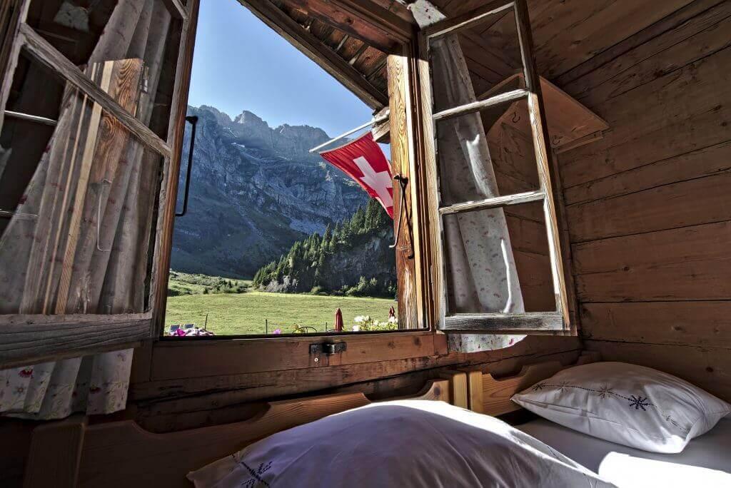 nuit dans un chalet suisse