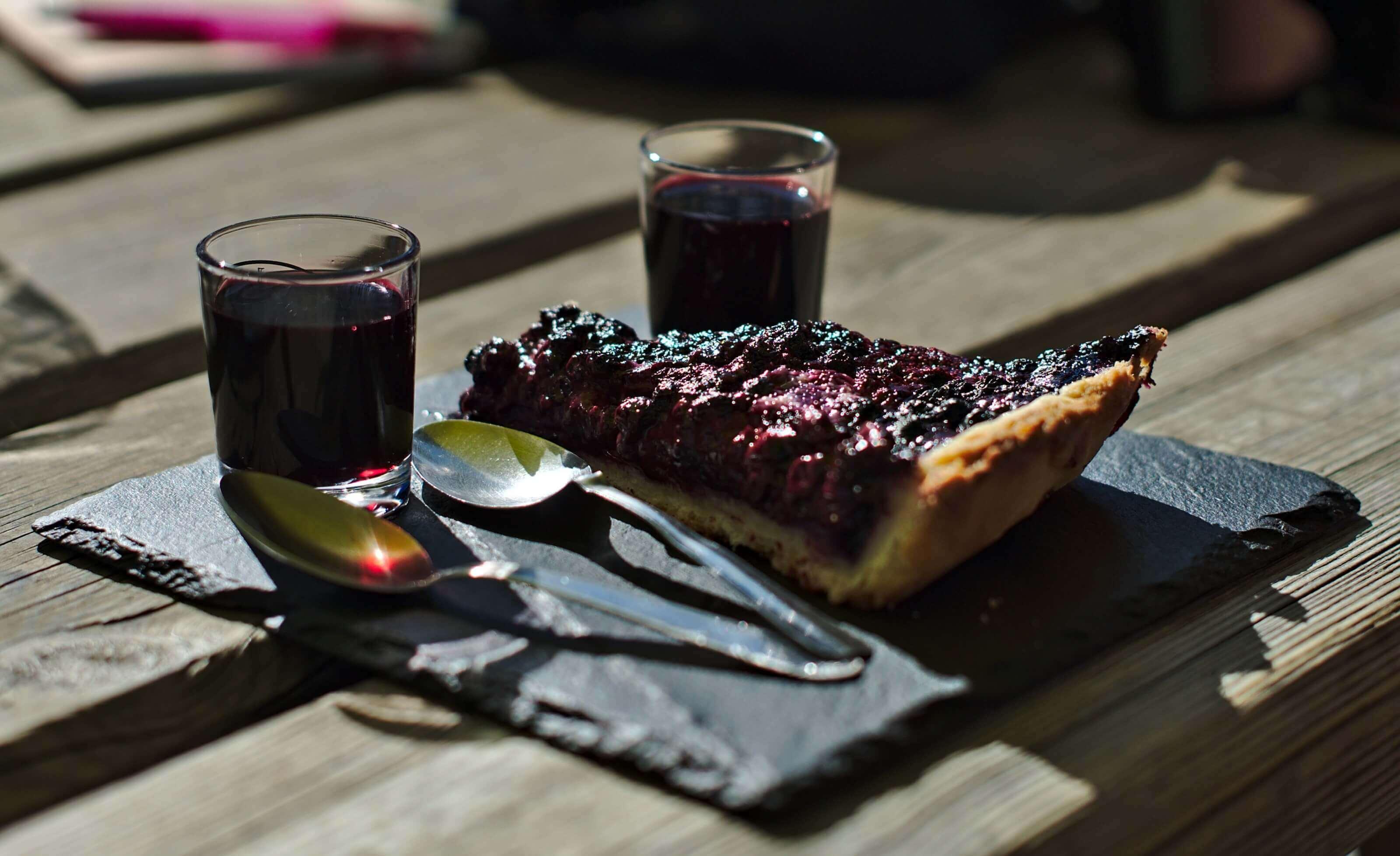 tarte aux myrtilles