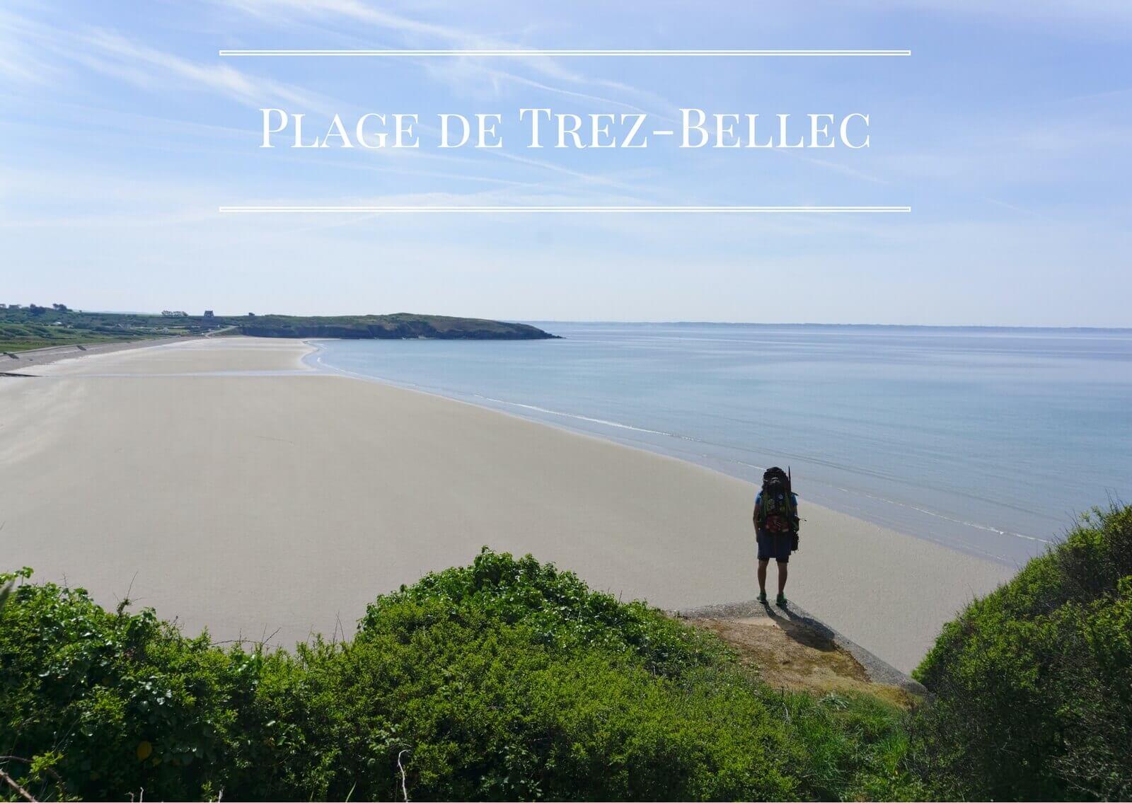 la plage de Trez Bellec