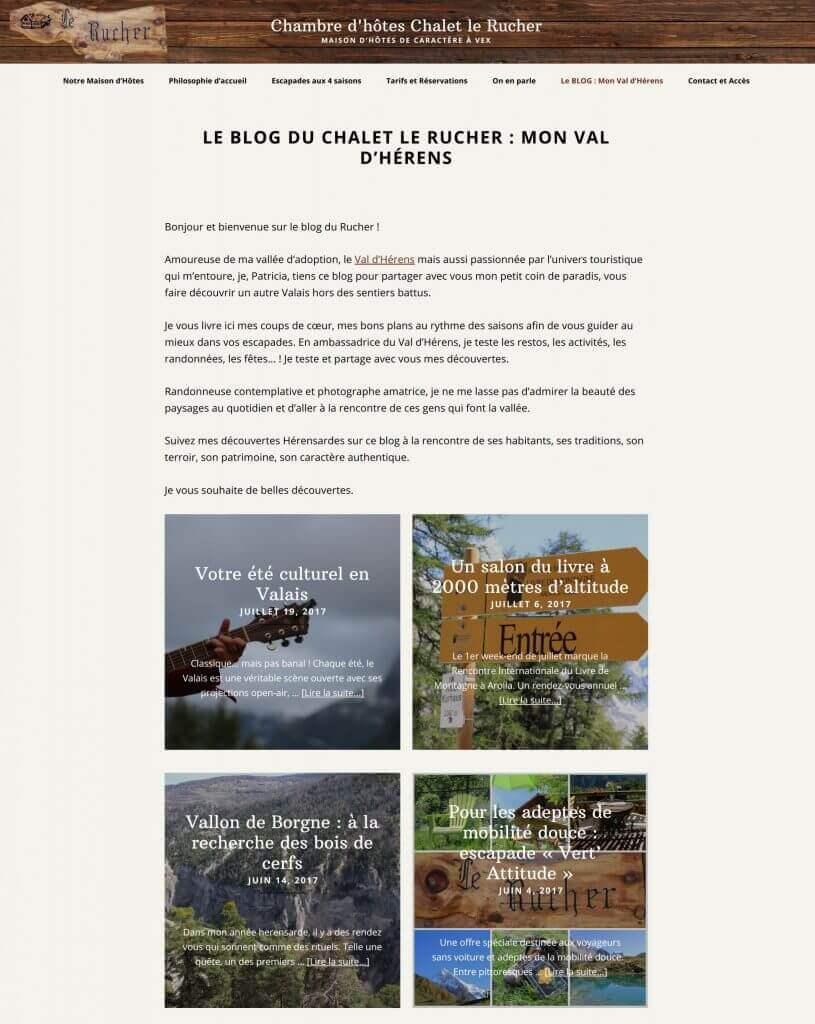 blog chalet le rucher